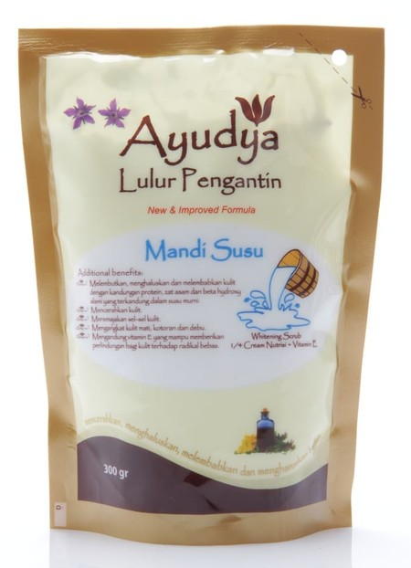 Ayudya Lulur Pengantin Mandi Susu (Milk)  Best If You Want Tosoften And Moisturize Skin Rejuvenate Skin Cells And Skin Regenerations  Suitable For : Dry And Sensitive Skin Applications : Massage In Circular Movements All Over The Body And Rinse Off With W
