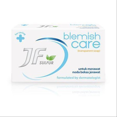 JF Sulfur Blemish Care berfungsi untuk mengurangi bekas jerawat dengan cara mengangkat sel-sel kulit mati sekaligus membersihkan wajah dengan lembut dari kotoran.
