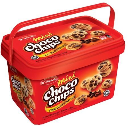 Kokola Minibit Choco Chip. Dikemas dengan desain yang elegan