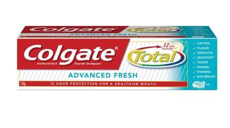 Pasta Gigi Colgate Total Advanced Fresh Adalah Pasta Gigi Yang Membuat Gigi Menjadi Sehat Serta Membuat Nafas Menjadi Segar.  Bagaimana Colgate Total Bisa Melawan Bakteri Sampai 12 Jam Pasta Gigi Flouride Biasa Bisa Melawan Kuman Yang Ada Di Sekitar Gigi