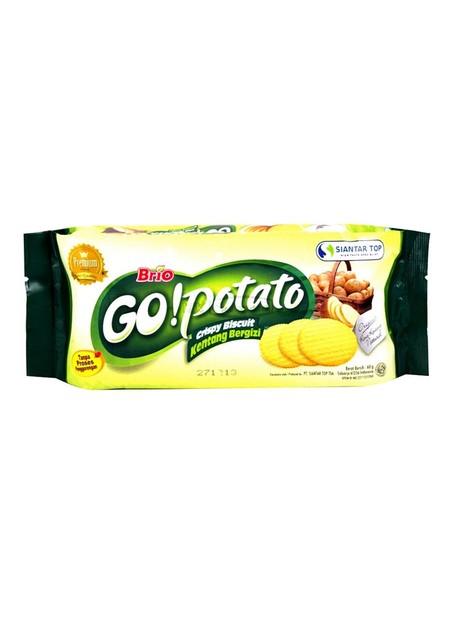 Brio Go! Potato Premium Merupakan Biskuit Yang Terbuat Dari Kentang Asli Pilihan Yang Diolah Dengan Bahan-Bahan Dengan Kualitas Yang Bagus.