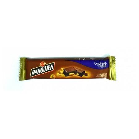 Van Houten Chunky Cashew 30gr merupakan coklat premium yang lezat. Sangat praktis untuk dikonsumsi dan memiliki nilai gizi yang tinggi.