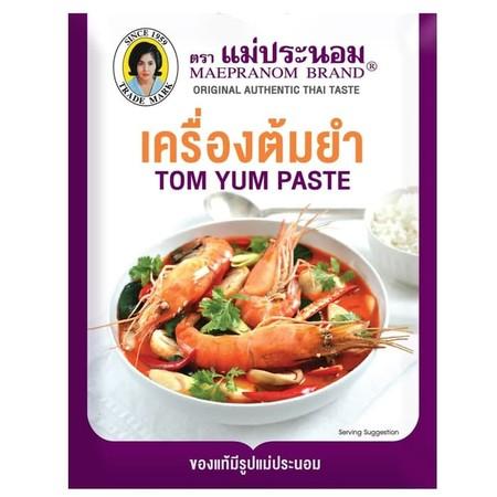 Mae Pranom Instant Tom Yum Paste 114gr adalah bumbu berbentuk pasta yang dapat digunakan untuk memasak tom yum khas thailand. Terbuat dari rempah-rempah pilihan sehingga dapat menghasilkan tom yum yang lezat