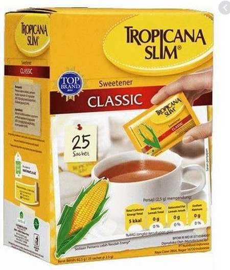 Tropicana Slim Sweetener Diabetics 25 Sachet X 2.5 G, Dihasilkan Dari Bahan Berkualitas Yang Diproses Dengan Standar Mutu Yang Tinggi Sehingga Menghasilkan Gula Yang Murni, Manis, Bersih, Dan Alami. Gula Asli Indonesia Ini Akan Menjadi Pemanis Yang Tepat