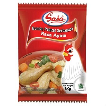 Sasa Kaldu Pelezat Serbaguna Rasa Ayam untuk melezatkan cita rasa aneka hidangan Anda.  Dibuat dari daging ayam pilihan, lengkap dengan kombinasi bumbu rempah nya.  Bubuk yang lebih kering dan tidak mudah menggumpal selama penyimpan  Bukan hanya memperkua