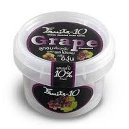 Fruite-10 Chewy Assorted Fruit Candy Grape 60gr merupakan permen kenyal dalam kemasan yang praktis. Rasa anggur yang manis memberikan sentuhan permen yang kaya akan vitamin dan tidak lengket ketika dikonsumsi. Disclaimer: Produk dikirimkan dari batch yang