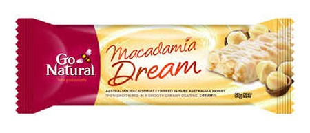 Go Natural Macadamia Dream Is The Perfect Natural Indulgence. Luxurious Australian-Grown Macadamias Are Lightly Roasted To Enhance Their Richness, Then Sweetened With Fragrant Australian Honey And Smothered In A Creamy Yoghurt Coating. Dreamy!