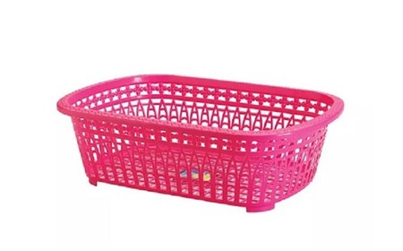 Melina Laundry Basket (Large) Size: 578 x 410 x H 175 mm Thick and strong plastic material quality Stackable Colors depending on available stock.