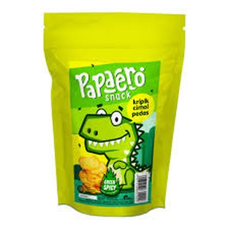 Papaero Snack terbuat dari bahan dasar cimol yang merupakan jajanan khas bandung yang di iris tipis dan digoreng kemudian di taburi bumbu pilihan dengan cabai hijau yang cukup pedas menjadikan keripik cimol yang terasa renyah & gurih dengan sensasi pedas