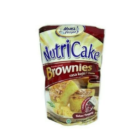 Premiks brownies keju, untuk membuat Brownies keju dengan menggunakan Nutricake Brownies Cheese, bisa dikukus atau dipanggang, pengadukan tanpa menggunakan mixer, membuat brownies menjadi pengalaman yang menyenangkan.