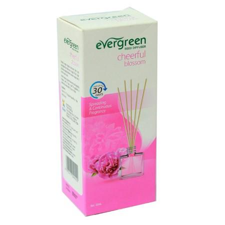 Evergreen Refill Cheerful Blossom merupakan pewangi ruangan dengan keharuman floral dan fruity yang menyegarkan serta tahan lama hingga 30 hari. Tidak meninggalkan residu saat ataupun setelah digunakan. Dapat digunakan sebagai tambahan dekorasi ruangan ba