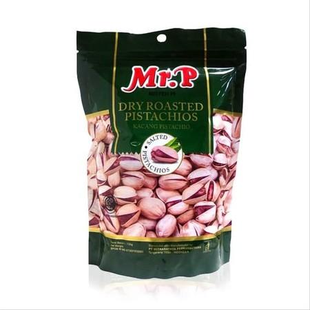 MR. P Dry Roasted Pistachio merupakan kacang pistachio sangat bermanfaat bagi tubuh karena kaya akan vitamin, mineral, dan senyawa bioaktif. Kacang ini rasanya renyah dan gurih sehingga banyak digunakan sebagai tambahan dalam berbagai makanan. kacang pist