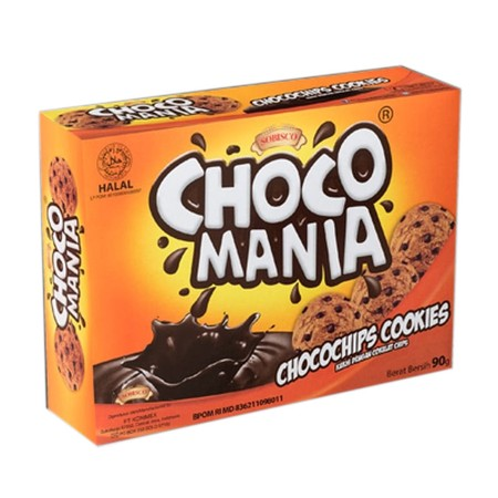 Sobisco Choco Mania Rich Chocolate Chocochips Cookies, Kukis Cokelat Dengan Cokelat Chips.