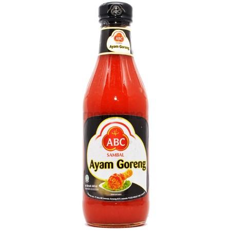 Abc Sambal Ayam Goreng Dikemas Dalam Bentuk Botol Berukuran 335 Ml . Merupakan Produk Dengan Bahan Dasar Cabai Pilihan Untuk Cita Rasa Yang Memuaskan.