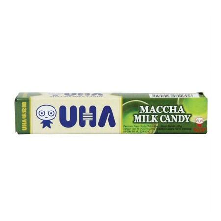 Permen manis lezat dengan rasa matcha yang wangi dan khas. Teksturnya lembut dan chewy menjadikan UHA sebagai permen favorit keluarga
