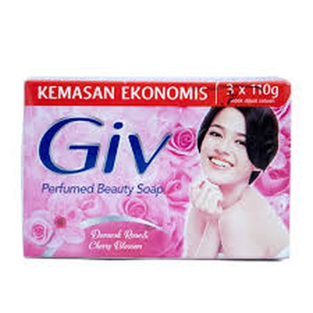 Giv Soap Is A Beauty Soap Made With Natural Ingredients And Fine Fragrance To Nourish And Keep The Skin Beautiful. It Contains Natural Moisturizer To Keep The Skin Soft. Each Variant Is Infused With Unique Fine Fragrance That Suits Different Personality