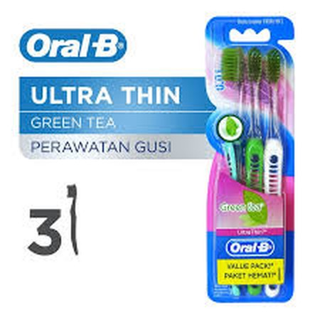 Oral-B Ultrathin Green Tea Gum Care Toothbrush Has Individually Tapered Bristles That Are Infused With Essence Of Green Tea, Providing A Soothing, Gentle And Deep Clean That Improves Your Gum Health In 14 Days. Unlike Most Thin Toothbrushes In The Market,