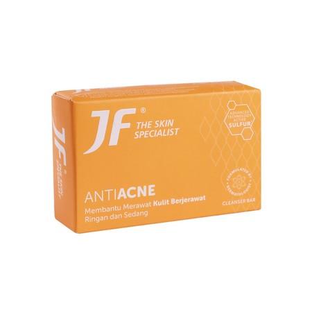 JF Sulfur Acne Treatment Sabun Batang merupakan sabun mandi yang terbuat dari bahan yang cocok untuk kulit serta dapat menjaga kelembaban & kelembutan kulit.