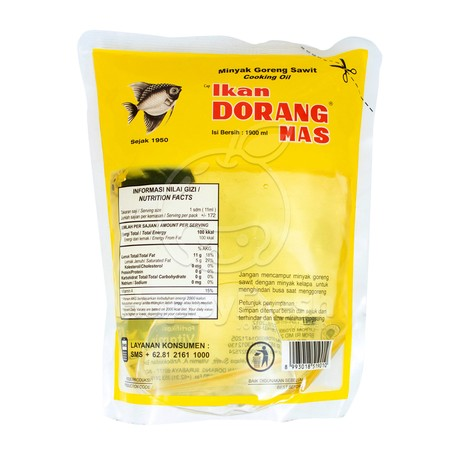 Special Dorang Fish Oil Is Processed From High Quality Copra Coconut. The Color Of Clear White Cooking Oil, And Does Not Quickly Turn Black Is Perfect For All Cooking Needs.  The Color Of Clear White Cooking Oil, And Does Not Quickly Turn Black Is Perfect