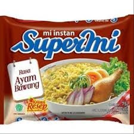 Supermi menghadirkan mi dengan kaldu rasa ayam bawang yang lezat. Dengan lima menit penyajian, Anda akan mendapatkan mi dengan tekstur kenyal lezat.