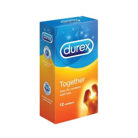 DUREX Condom Together adalah kondom pertama dari DUREX dengan fitur Easy On Shape (mudah mengikuti bentuk) dengan gel penambah kenyamanan bagi Anda yang membutuhkannya. DUREX Condom Together dibuat agar tidak menghasilkan bau yang tidak sedap, dan menjauh