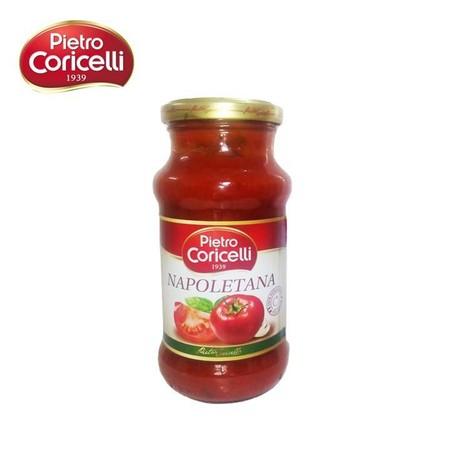 Coricelli Napoletana Pasta Sauce 350gr merupakan saus instan untuk pasta yang terbuat dari tomat segar serta pilihan sehingga menjadikan hidangan pasta anda lebih nikmat
