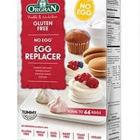 ORGRAN No Egg Egg Replacer lets you create quality cakes and baked goods with similar texture to those with eggs. Each packet has the equivalent of 66 eggs for all your baking needs.Dairy Free, Egg Free, Gluten Free, GMO Free, Kosher, No Added MSG, Nut F