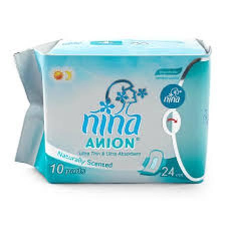 Bagus Nina Anion Pembalut Wanita [24 cm/10 sheets] adalah pembalut wanita yang memiliki lapisan pembalut yang lembut, tembus udara, dan memiliki daya serap ultra maksimal untuk menjaga daerah kewanitaan Anda tetap kering. Kandungan Anion-nya mampu meningk
