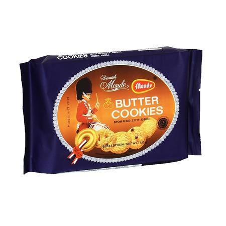 Monde Butter Cookies, sajian klasik yang disukai seluruh Masyarakat, dengan varian bentuk yang membuat kita ingin menikmati semuanya. Cookies yang terbuat dari bahan berkualitas serta sensasi butter yang lumer di mulut, menjadikannya sebagai pelengkap kec