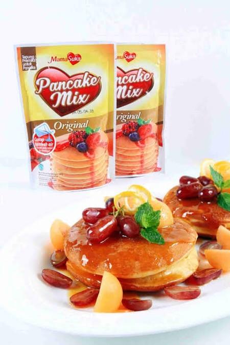 Pancake Mix Mamasuka Merupakan Tepung Adonan Pancake Dengan Harga Terjangkau. Kini Semua Bisa Dengan Mudah Membuat Pancake Yang Enak Dan Lezat.