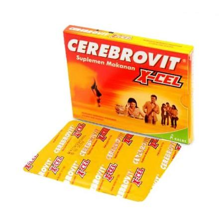 Indikasi Umum Memenuhi kebutuhan vitamin, mineral, dan nutrisi otak. Deskripsi CEREBROVIT X-CEL merupakan multivitamin untuk meningkatkan konsentrasi dan daya ingat untuk remaja usia 12-22 tahun, yang mengandung nutrisi otak, berbagai vitamin dan mineral