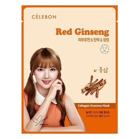 Celebon Red Gingseng Collagen Essence Mask Merupakan Masker Wajah Yang Memiliki Kandungan Vitamin E Dan Kolagen Memberikan Nutrisi Untuk Kulit Serta Membuat Kulit Lebih Cerah. Masker Ini Terbuat Dari Ekstrak Gingseng Merah Yang Dapat Meningkatkan Daya Tah
