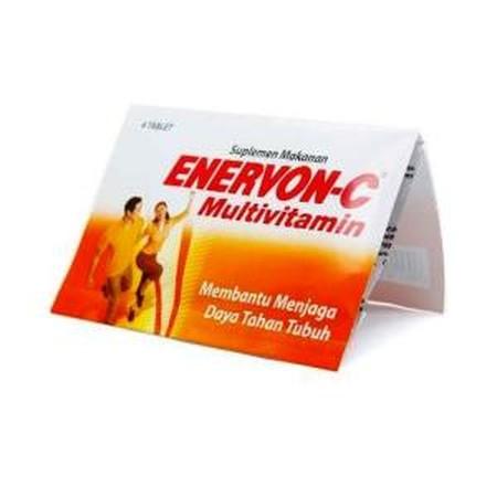Enervon-C Tablet Obat Kesehatan [4S] merupakan vitamin yang dapat meningkatkan kebutuhan vitamin pada saat hamil, menyusui, masa perkembangan dan pertumbuhan, terkena infeksi, ketegangan fisik dan mental. Kemasan : 1 strip 4 tablet