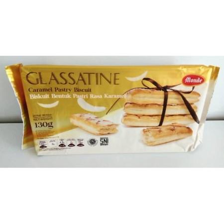 Monde Glassatine Biscuit Caramel, biskuit yang terinspirasi dari pastry Italia, dengan filling caramel yang nikmat dan lumer di mulut.