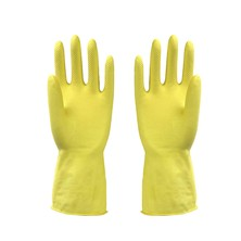 Latex cleaning gloves. Length: 30cm Protect hands from the dangers of chemicals when washing dishes or cleaning the house.