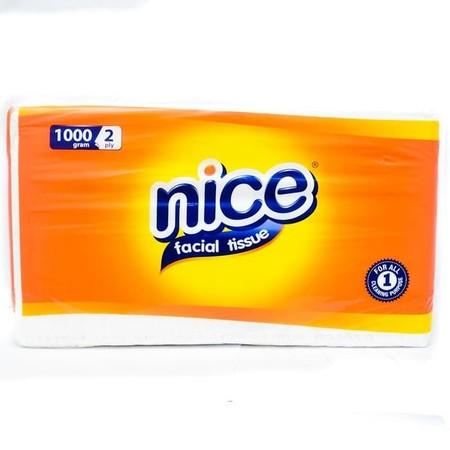 Nice Kiloan Tisu 1000 Gr Merupakan Tissue Nice Terbuat Dari 100% Serat Alami (Virgin Plantation Pulp) Dan Diproses Secara Higienis Sehingga Menghasilkan Tissue Halus Yang Berkualitas Tinggi Bagi Keluarga Anda. Dengan Bahan Dasar Yang Lembut Dan Kuat (Tida