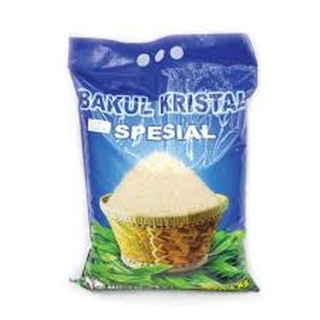 Beras bakul kristal merek nilam sari yang terbuat dari padi pilihan. Putih dan pulen, higienis dalam pemrosesan dan dikemas dengan baik.