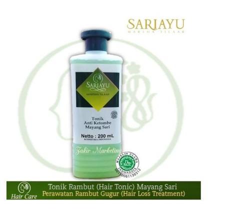 Sariayu Tonik Anti Ketombe Mayang Sari Tonik Anti Ketombe Mayang Sari dapat mencegah kerontokan, merangsang pertumbuhan rambut dan mengatasi ketombe. Dibuat dengan bahan - bahan yang alami, sehingga aman digunakan. Memiliki kemasan yang praktis dan mudah