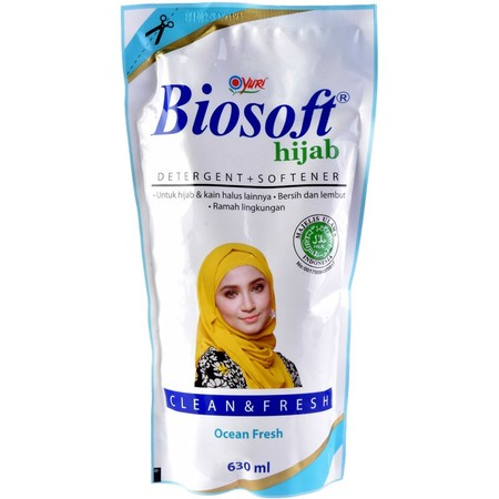 Hanya Dengan 1/2 Tutup Botol Biosoft Hijab Detergent + Softener Anda Akan Mendapatkan Hasil Mencuci Yang Bersih Menakjubkan, Kotoran Dan Noda Pada Hijab Dibersihkan Secara Tuntas Dalam Proses Pencucian. Tak Hanya Membersihkan, Produk Ini Juga Dapat Melemb