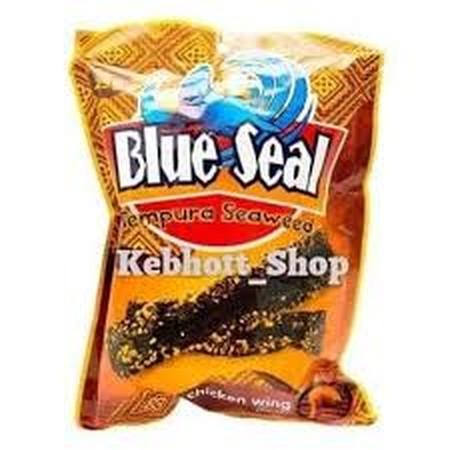 Blue Seal Tempura Sweed Chicken Wing Adalah Keripik Rumput Laut Rasa Chicken Wing.