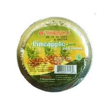 Morisca Jam Pineapple Selai Cup [150 G] Merupakan Selai Yang Terbuat Dari Bahan-Bahan Alami Dengan Rasa Buah Yang Terjaga Kualitasnya. Dapat Digunakan Untuk Berbagai Macam Makanan Dan Minuman, Tersimpan Dalam Botol Kaca Yang Tidak Mudah Pecah. Tersimpan J