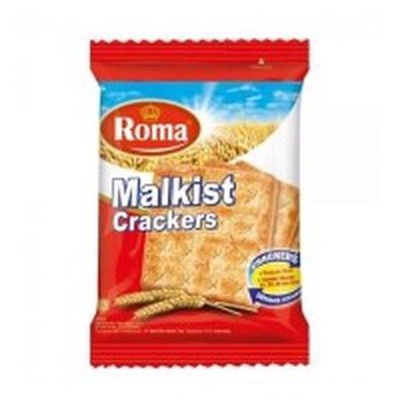 Roma Malkist Crackers merupakan biskuit dengan aroma yang khas dari Roma. Biskuit dilapisi dengan gula yang dilelehkan untuk memberikan energi lebih pada tubuh Anda. Nikmati biskuit bersama teh di sore hari dapat mencerahkan hari Anda. Dilengkapi dengan V