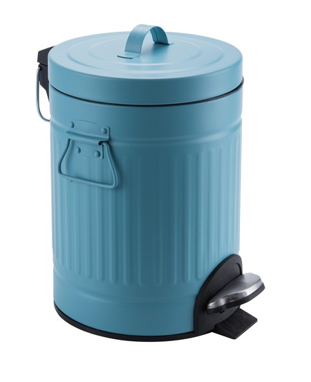Stainless steel dustbin with attractive design. Size: 20Liter. Material: stainless steel + powder coating. Color: Tosca Suitable complements the design of a modern room.