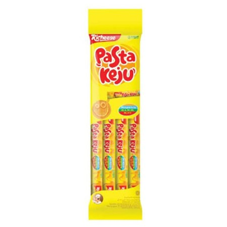 Richeese Pasta Keju merupakan pasta keju siap makan yang terbuat dari keju asli pilihan. Richeese Pasta Keju diolah dan dikemas secara higienis dan modern untuk menghasilkan pasta keju bercita rasa istimewa. Tak hanya itu, Richeese Pasta Keju mengandung v