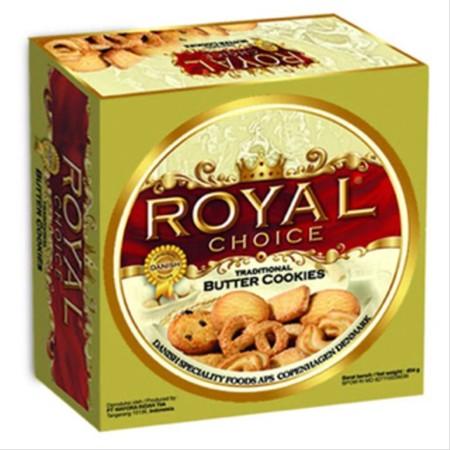 Royal Choice Butter Cookies 960 Gr. Royal Choice Kaleng merupakan butter cookies dengan rasa mentega yang gurih dengan taburan gula. Butter cookies ini terbuat dari bahan-bahan pilihan dan diproses secara higienis sehingga aman untuk dikonsumsi. Ideal unt