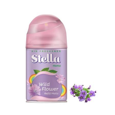 Kemasan Refill Stella Matic 225 Ml Dengan Wangi Bunga-Bungaan Segar. Selalu Isi Ulang Atau Refill Alat Stella Matic Tiap 30 Hari.