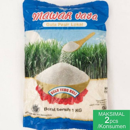 Sugar Cane Made Form Selected Ingredients  Mawar Jaya 1 Kg Yellow Granulated Sugar Contains Simple Carbohydrates Because It Can Dissolve In Water And Is Directly Absorbed By The Body To Be Converted Into Energy. This Sugar Is Generally Produced From Sugar