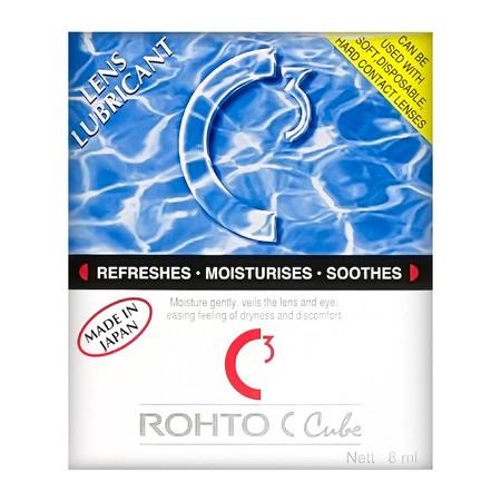 Rohto C Cube merupakan obat tetes mata instan khusus bagi pengguna lensa kontak. Pada pengguna lensa kontak, Rohto C Cube dapat membuat lapisan antara mata dengan lensa kontak sehingga dapat memberikan rasa nyaman, mengatasi mata kering, dan dapat langsun