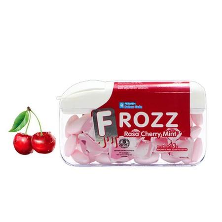 Permen Rasa Cherry Mint Dengan Sensasi Manis Yang Dingin Menyegarkan Dan Bebas Gula.