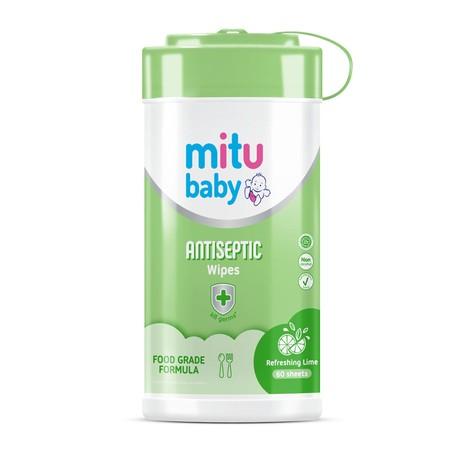 Mitu Baby Wipes Antiseptic Tisu Basah [50 Sheets] Merupakan Tisu Basah Yang Telah Lulus Uji Hipoalergenik Sehingga Menjaga Kulit Bayi Bebas Iritasi. Mitu Baby Wipes Antiseptic Merupakan Salah Satu Varian Tisu Basah Dari Mitu Baby Yang Terbuat Dari Bahan-B